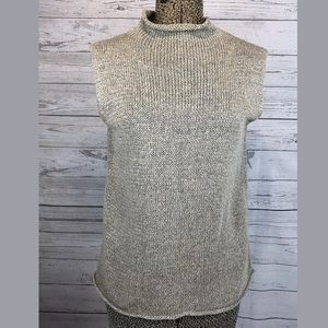 Eileen Fisher knit tank with mock neck size medium
